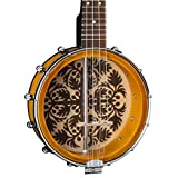 Luna 8' Banjolele with Ulu Design, Tobacco Burst
