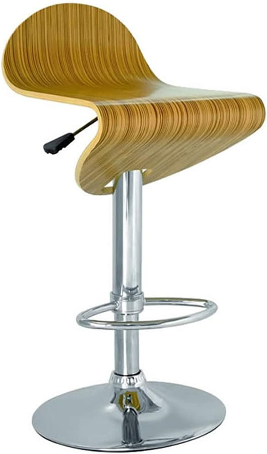 Solid Wood Stripe Barstools, 24 Inch Swivel Stool High Stool with Backs Pub Chair Counter Bar Stool Chair for Bar Home-Stripe