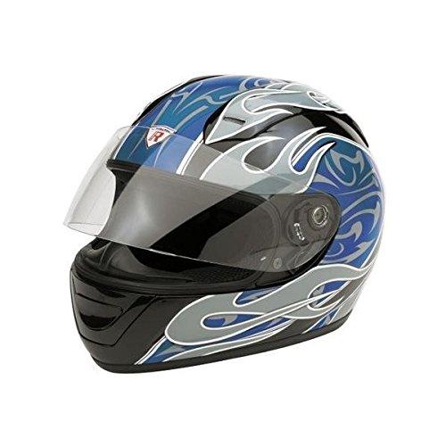 Bottari Motorradhelm Extreme, Integralhelm, Rubber Black/Blue, Größe XL