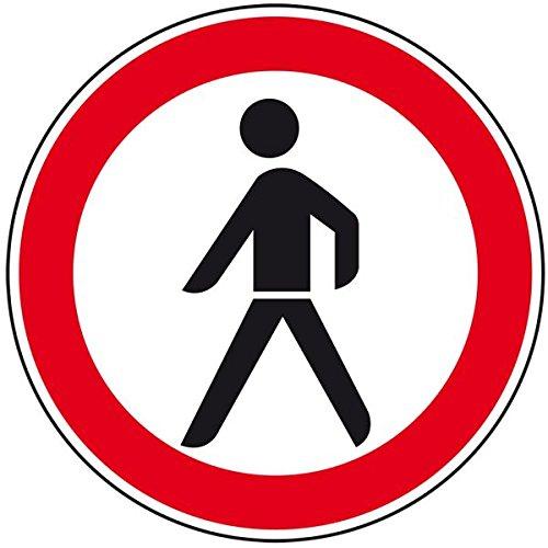 LEMAX® Verkehrszeichen Verbot für Fußgänger,Nr.259,Aluminium RA0,reflektierend,Ø 600mm