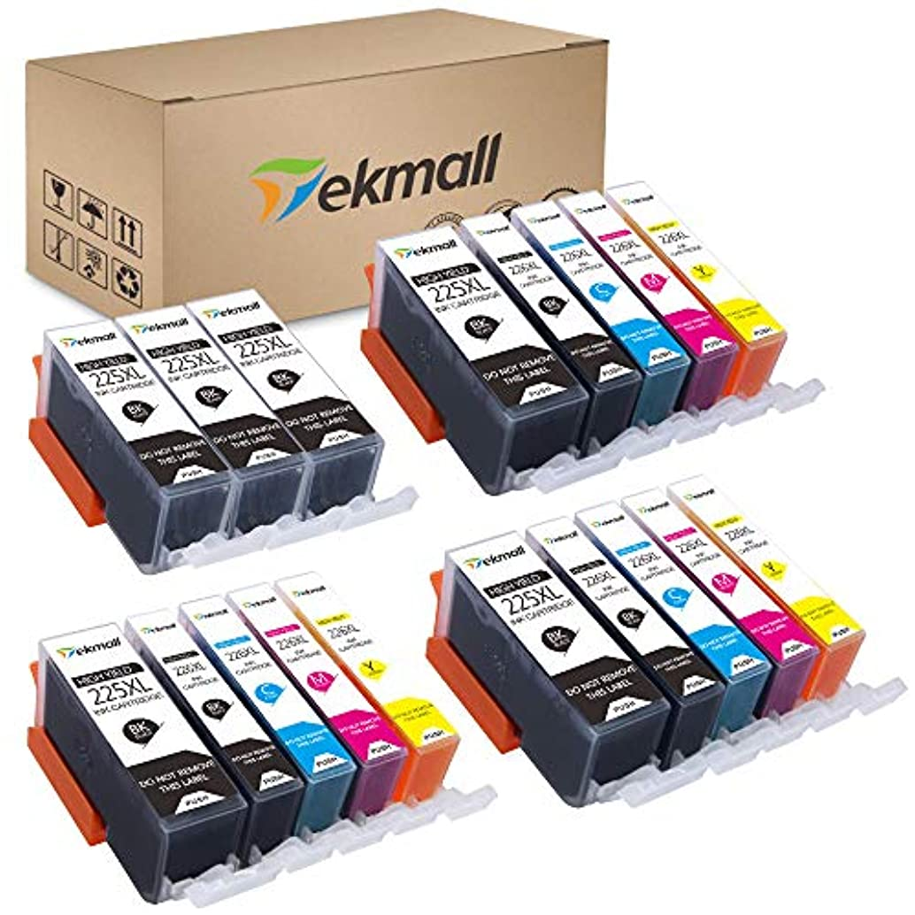 Tekmall Compatible Ink Cartridges Replacement for Canon PGI-225 CLI-226 PGI225 CLI226 Use for PIXMA MX882 MX892 iX6520 MG5220 MG5320 MX712 MG5120 iP4820 iP4920 18 Pack