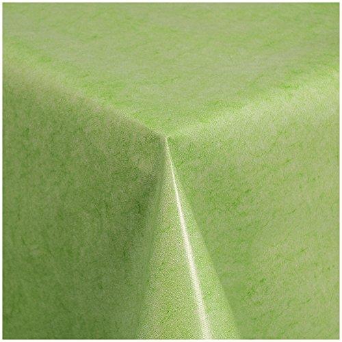 TEXMAXX Wachstuchtischdecke Wachstischdecke Wachstuch Tischdecke abwaschbar (225-04) - 160 x 140 cm - PVC Tischdecke abwischbar, Uni Muster in Grün