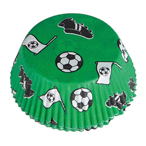 amscan 9903012 Muffinförmchen Fußball