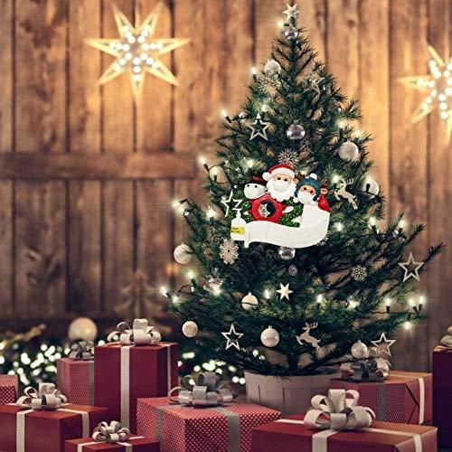 2020 cuarentena familia personalizada decoración de Navidad regalo creativo para la familia, DIY Chrismtas nombre de los miembros Kit colgante de Navidad