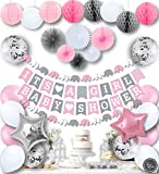 🌸 IT'S A GIRL BABY SHOWER! – A great joy is coming all wrapped in pink! Excited to meet the new little lady soon? We've teamed up this adorable set with some of the most popular matching pink, grey and white decorations to help you create a complete ...