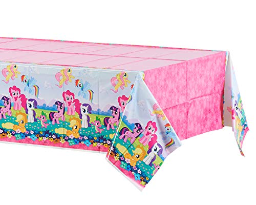 American Greetings Plastic Table Cover for Arts & Crafts, My Little Pony Party Supplies (1-Count)