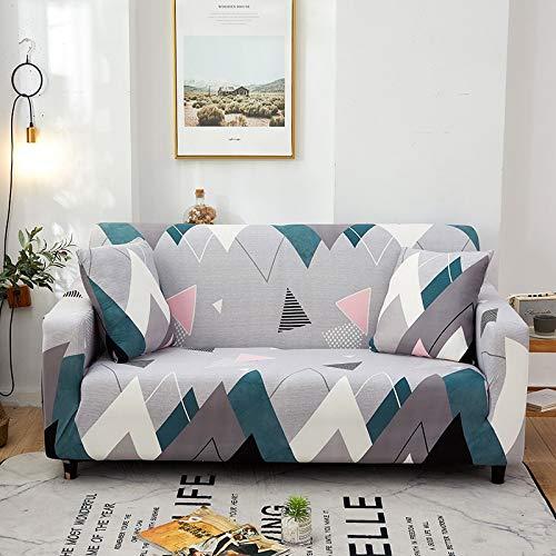 WXQY Sala de Estar geométrica Todo Incluido Funda de sofá Moderna sección elástica Funda de sofá de Esquina Funda de sofá A12 4 plazas