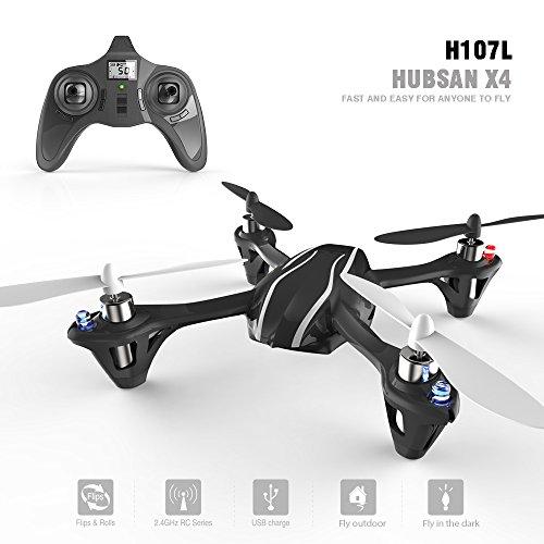 HUBSAN X4 H107 Quadrocopter (2.4G 4CH RC) H107L Schwarz/Weiß