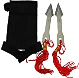 Happy Home Gifts Set of 2 Arrow Head Throwing Knives with Wristband
