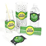 You Got Served - Tennis - DIY Party Supplies - Baby Shower or Tennis Ball Birthday Party DIY Wrapper Favors & Decorations - Set of 15