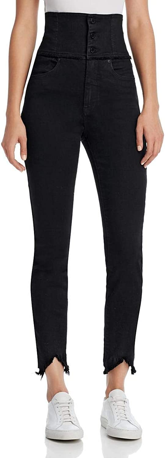 Blank NYC Womens LaceUp Corset Back Skinny Jeans Black 31
