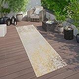 Paco Home In- & Outdoor Teppich Modern Shabby Chic Stil Terrassen Teppich Gelb, Grösse:60x100 cm - 2