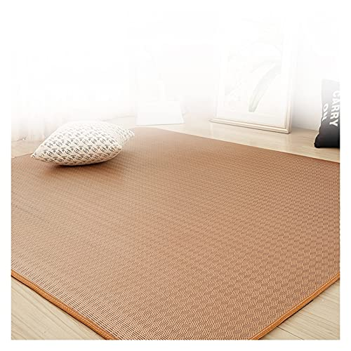 Alfombra de pecho de alfombra de área de bambú, alfombra de bambú natural, estera de sala de estar, dormitorio Corredor Bahía...