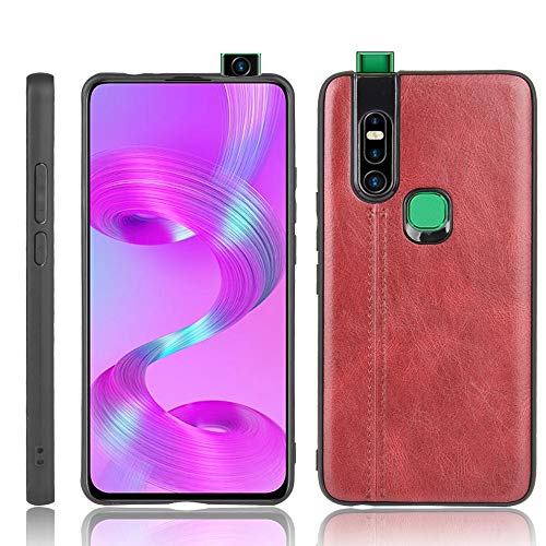 A+Xu Jie For Infinix S5 Pro Shockproof Sewing Cow Pattern Skin Texture PC + PU + TPU Case (Color : Red)