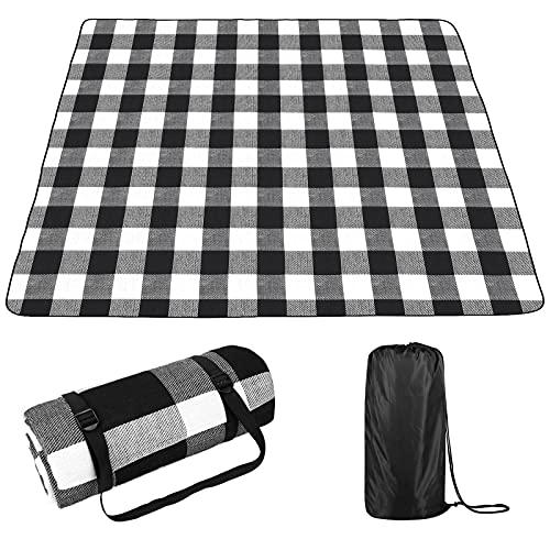 OUTHIKER Picknickdecke 200x200CM Wasserdichter Picknickmatte Isolierte, mit Tischdecke 90x70CM, Feuchtigkeitsbeständige Campingdecke Outdoor Faltbare Weich Tragbar Stranddecke Reisen und Camping
