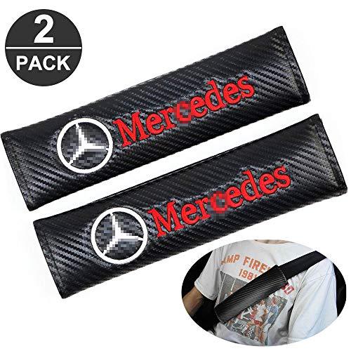 ZHCOM 2 Stück Karbonfaser Auto Sicherheitsgurt Schulter-Pads Gurtpolster für Mercedes Benz All Models, Rennsport Styling Schulter Gurtschutz Abdeckung,A-01