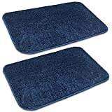 Anti-slip microfibre bathmat for daily home bathroom use Size:- 40 x 60 cm (15.74 x 23.62 in) Made from 950 GSM thick microfibre that is plush, soft and cosy Latex bottom is anti-slip preventing slides, skidding and moving on tiles Border piping give...