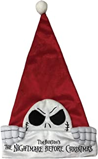 Nightmare Before Christmas Disney The Jack (Kilroy Style) Santa Hat