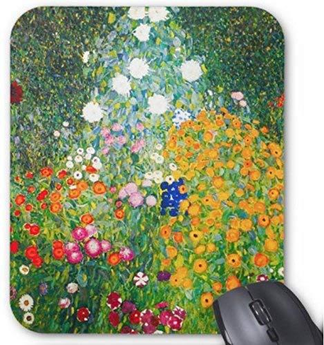 Gaming Mouse Pad Gustav Klimt Flower Garden for Desktop and Laptop 1 Pack