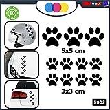 10 zampette adhésives Autocollants pour voiture moto Casque-Noir-3 adhésifs 5 x 5 cm 7 x 3-stickers toutes cm 3 couleurs disponibles-Voiture-NOUVEAUTÉ ! auto moto camper stickers decal