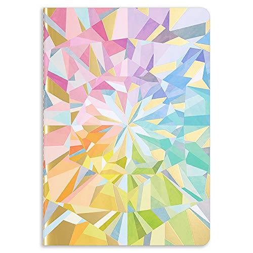 Erin Condren Designer Petite Journal with Lined Pages - Colorful Kaleidoscope. Great for Creative Writing, Journaling, Taking Notes, School Work, and Office Work