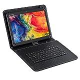 ACEPAD A130 (10.1') 4G LTE Tablet PC, 64 GB interner Speicher, Octa Core, Android 9, 2 GB RAM, Wi-Fi/Bluetooth, USB-C/microSD (Schwarz mit Tastatur)