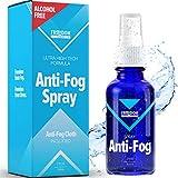 Anti Fog Spray for Glasses (100% Alcohol & Ammonia Free), Fog Gone Spray for Glasses, Antifogging Spray for Glasses (Safe for Eyes & Lenses), Glasses Cleaner Spray, Anti Fog Spray for Ski Goggles