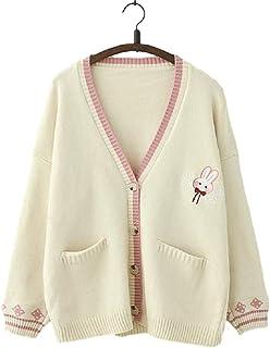 GK-O Mori Girl Kawaii Rabbit Japan JK Uniform Knit Cardigan Sweater Girl School Cosplay Sweater