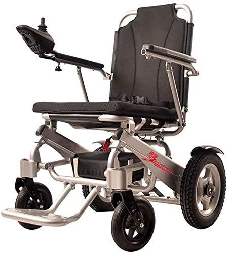 WXDP Autopropulsado Marco de aleación de Aluminio eléctrico Plegable eléctrico Mano eléctrica/Ajuste Doble eléctrico Capacidad de Peso 100 kg para discapacitados, usuar