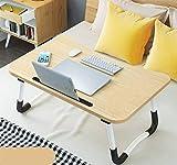 Foldable Bed Tray Lap Desk, Portable Lap Desk with Phone Slots Notebook Table Dorm Desk,...