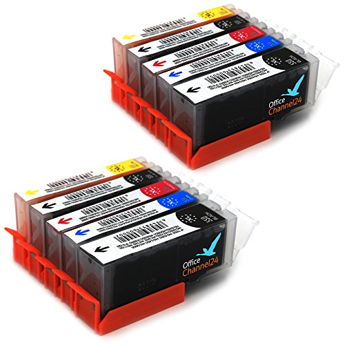 10 Office Channel24 Drucker Patronen kompatibel zu Canon PGI-550 CLI-551 für Canon Pixma MG5650 IP7250 IP8750 MG5450 MG5550 MG 5655 MG6350 MG6450 MG6650 MG7150 MG7550 Canon Pixma MX725 MX925 Canon Pixma IX 6850