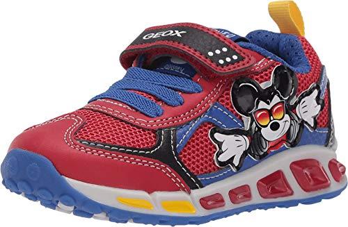 Geox Kinder Jungen Shuttle 16 Mickey Mouse (Kleinkind/kleines Kind), Rot (rot / blau), 25 EU
