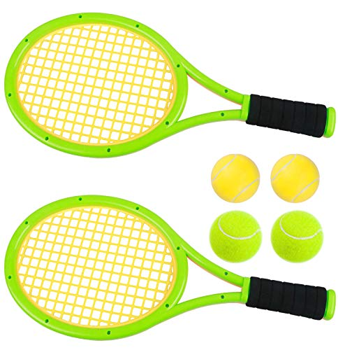 Nileatry Kids Tennis Racket Set with Ball, Plastic Tennis Racquet for Toddlers Outdoor Toys (Age 3-5) (6)