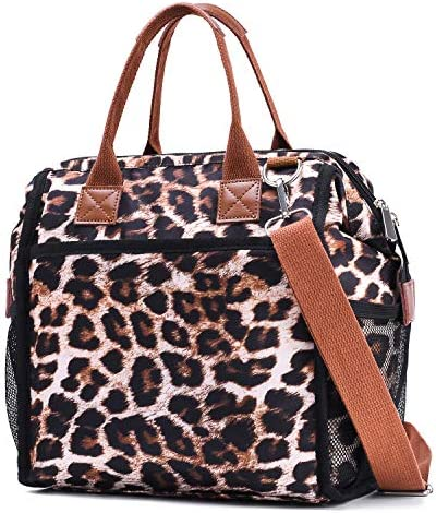 Insulated Lunch Box Bag Lunch Tote Cooler Bag for Women and Men Meal Prep Shoulder Bag Leopard product image