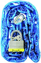 Guard Security 832 Vinyl Covered Hardened Steel Chain with 744 Padlock, 4-Feet x 9/32-Inch