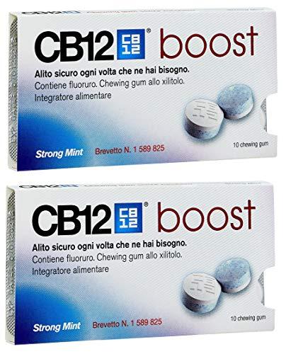 CB12 Boost Sugar Free Gum - Strong Mint (2) by CB12