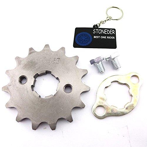 Stoneder 420 15 dents avant de 20 mm Pignon de chaîne Gear pour 50 cc 70 cc 90 cc 110 cc 125 cc 140 cc 150 cc 160 cc Engine ATV Quad Pit Dirt Trail Bike