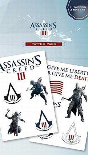 Pyramid Posters Lot de 11 Tatouages temporaires Motif Assassin's Creed III 17 x 10 cm