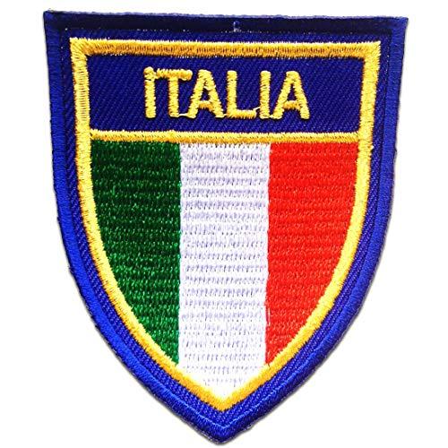 ITALIA Flagge Fahne Italien - Aufnäher, Bügelbild, Aufbügler, Applikationen, Patches, Flicken, zum aufbügeln, Größe: 6.0 x 7.4 cm