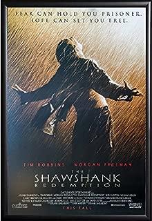 Shawshank Redemption Movie Poster US Version Framed (Black)
