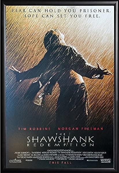 Shawshank Redemption Movie Poster US Version Framed Black