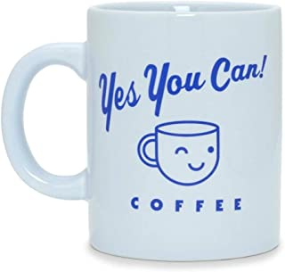 ban.do Hot Stuff Ceramic Coffee Mug Tea Cup, 11 Ounces, Coffee - Yes You Can