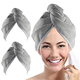 YoulerTex Microfiber Hair Towel Wrap for Women, 2...