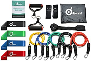 Odoland 16 pcs Resistance Bands Set Workout Bands and...