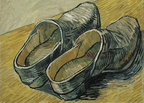 Vincent van Gogh 'Een paar leren klompen, detail', 1888, 250gsm Zacht-Satijn Laagglans Reproductie A3 Poster