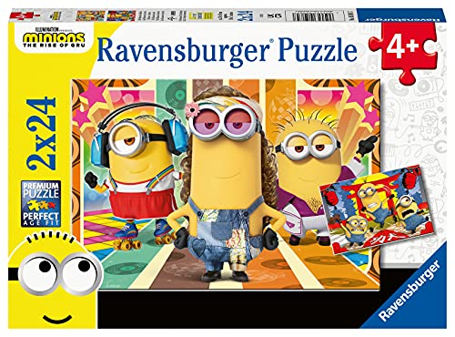 Ravensburger Puzzle Minions, 2 Puzzle di 24 Pezzi, Età Consigliata 4+, Puzzle per Bambini, Stampa di Alta Qualità, 05085 7