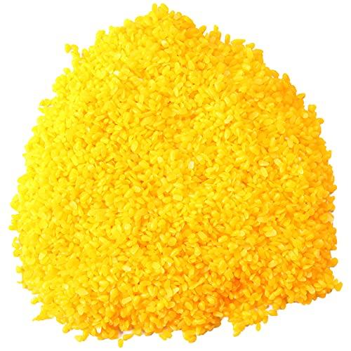 doesnotapply 500g natürliche organische gelbe Bienenwachspellets Kosmetikqualität DIY hausgemachte Lippenbalsam Lotionen Körpercreme Seife Herstellung Zutaten