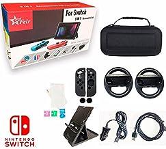 Kit Acessórios 9 Em 1 Capa Película Cabos Nintendo Switch