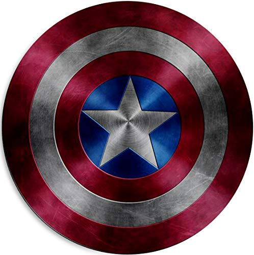 Captain America Shield Mouse Pad Non Slip Rubber Mousepad Gaming Office Round Mouse Mat -Captain America Shield