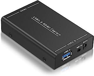 キャプチャーボード HDMI 独自開発チップ採用 USB3.0 HD1080P 60FPS ボイススルー機能 Switch/PS4/PC/スマホ Mac/Windows/Linux OS X対応 YouTube/Twitchなどにゲーム録画・実況・配信